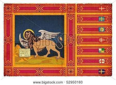 Grunge Flag Of Venetia (italy)
