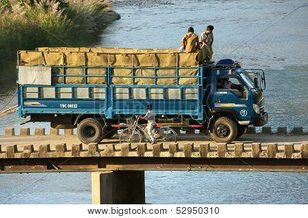 Truck  On Small Bridge