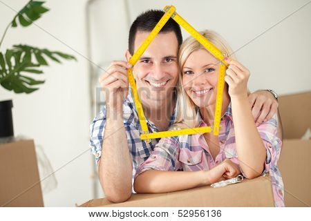 happy concept for new or first home