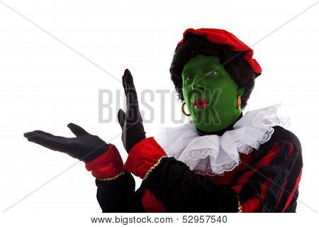 Green Piet ( Black Pete) Jest On Typical Dutch Character