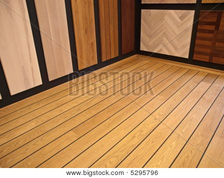 Display Of Hardwood Parquet Floors