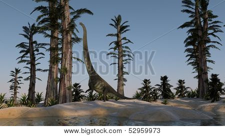 mamenchisaurus on shore