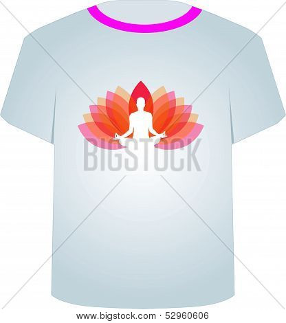 Printable tshirt graphic-yoga on lotus