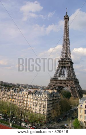 Eiffel Tower With Buildings