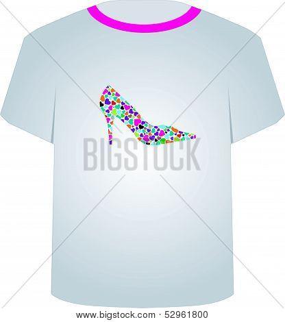 T Shirt Template- shoe lover
