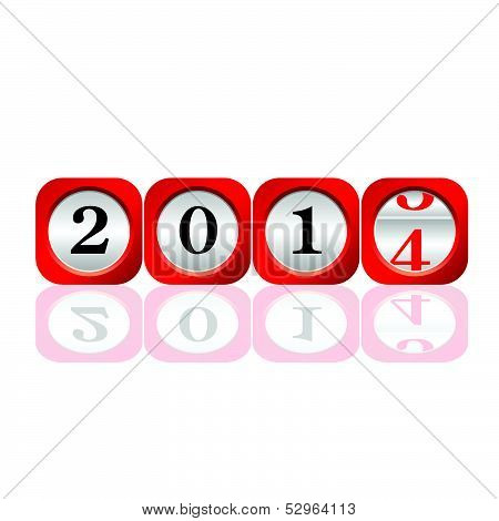 Dial 2014 Color Art Vector Illustration