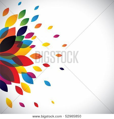 Colorful Flower Petals Of A Beautiful Flower As Background