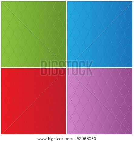 stylish color backgrounds in diamond-shaped ornamental pattern
