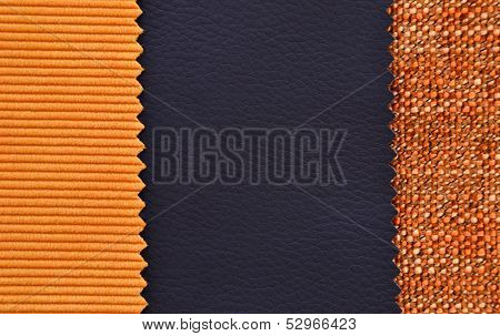 Corduroy and leather texture