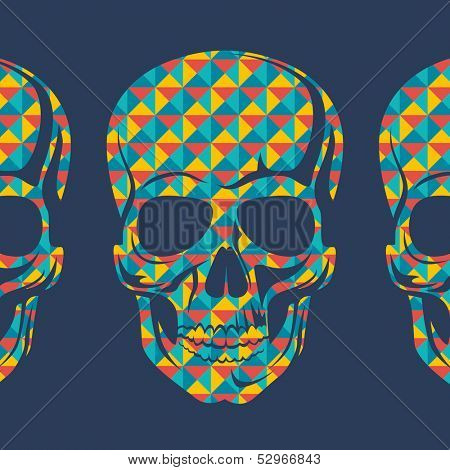 Conceptual background with skulls.