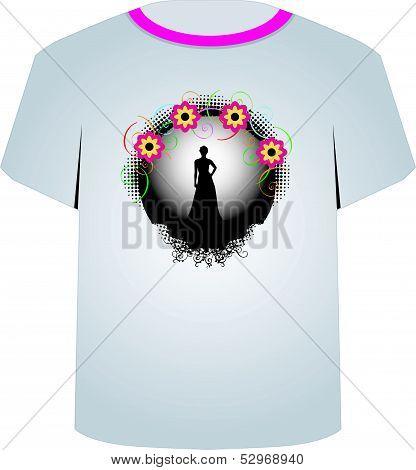 T Shirt Template- supermodel