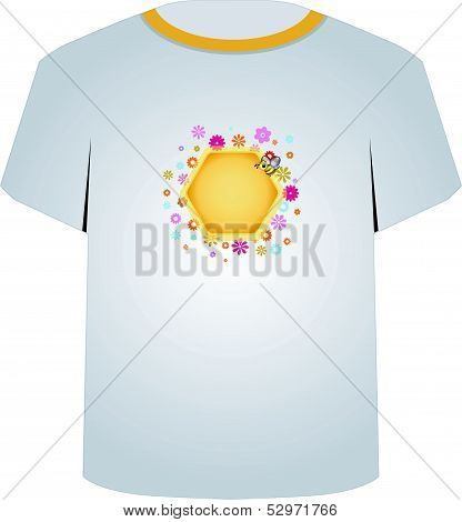 T Shirt Template- cute honeybee