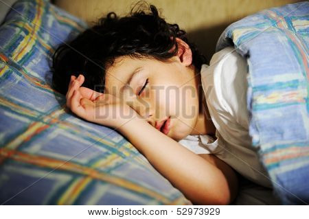 Cute little kid sleeping