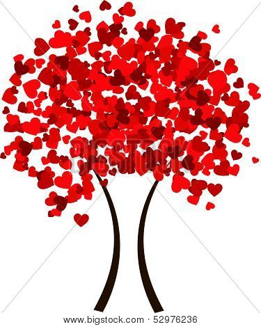 Valentine heart tree- season of love