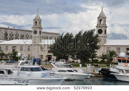 The Royal Navy Dockyard in Bermuda