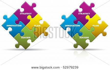 Business Innovation Puzzle Pieces
