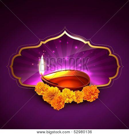 beautiful stylish diwali festival illustration