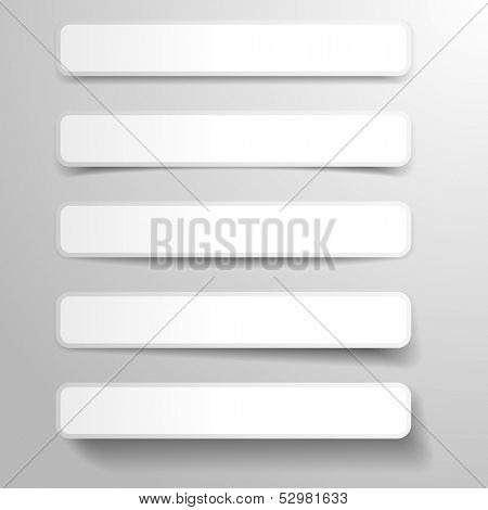 illustration of abstract banners with different shapes of dropshadows, eps 10 vector