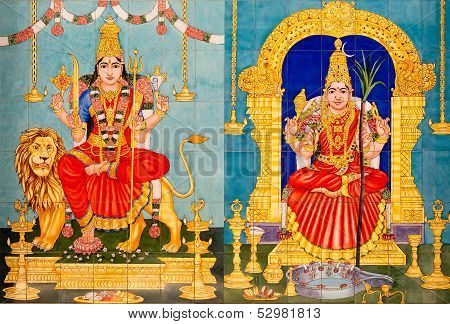 Traditional Hindu Gods Painted Images