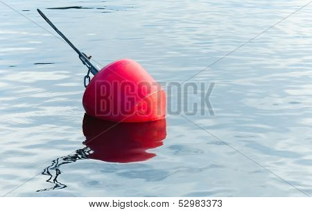 Yachts Moorings Red Buoy Of Small European Marina
