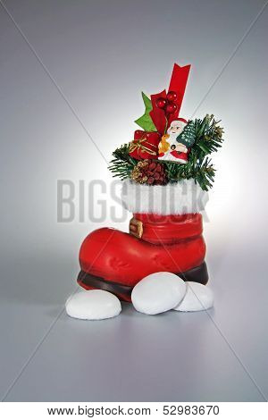 Santa red Boots with Gifts