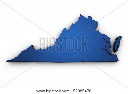 Map Of Virginia 3D Shape