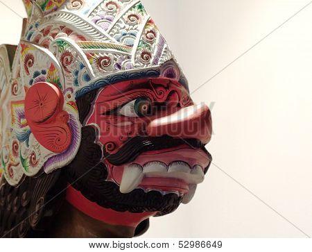 Javanese wayang puppet head