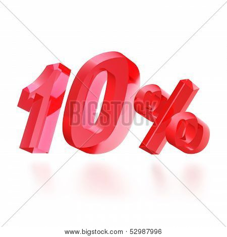 Sales concept: 10% off sign on white
