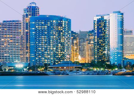 Downtown City of San Diego, California, Twilight