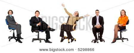 Business People Seated
