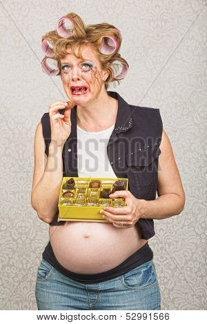 Depressed Pregnant Woman