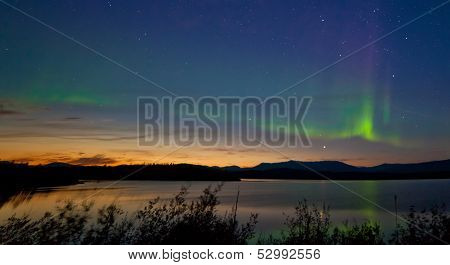 Midnight Summer Aurora Borealis Northern Lights