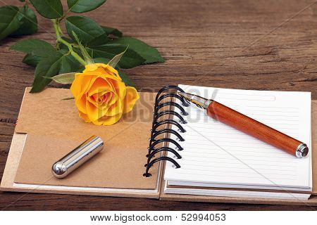 Note Pad Opened With Writable Page