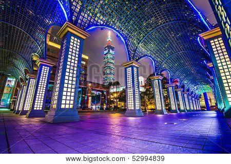 Cityscape in Taipei, Taiwan.