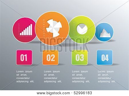 business symbols and numbers. vector illustration