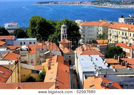 panoramic view of Zadar, Croatia