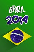 picture of carnival brazil  - Creative flag of Brazil 2014 vector illustration - JPG