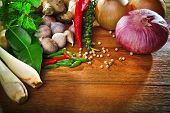 pic of thai food  - thai kitchen food spices - JPG