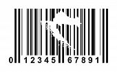 Croatia shopping bar code isolated on white background.