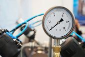 pic of air pressure gauge  - the image of a Close up of a pressure - JPG