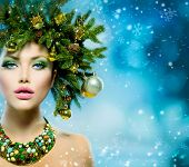 pic of makeover  - Christmas Winter Woman - JPG