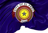 Flag Of El Paso, Usa.