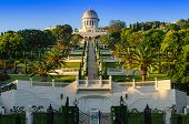 image of israel people  - Bahai Gardens in Haifa - JPG