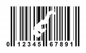Monaco shopping bar code isolated on white background.
