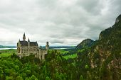 pic of bavaria  - The castle of Neuschwanstein in Bavaria - JPG