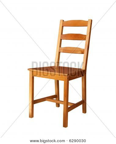 Wooden Chair Isolated