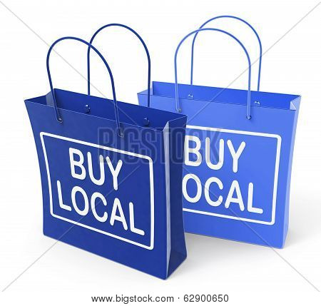 Buy Local Bags Promote Buying Products Locally