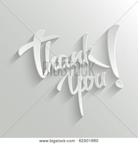 Thank You Lettering Greeting Card