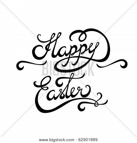 Happy Easter Lettering Handmade Calligraphy