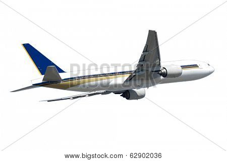 Big jumbo plane isolated on a white background.
